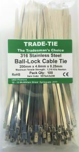 TRADE-TIE Stainless Steel Cable Ties
